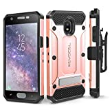 Galaxy J7 2018 / J7 Refine / J7 V 2nd Gen / J7 Star Case, Evocel [Explorer Series Pro] Premium Full Body Case w/Glass Screen Protector, Belt Clip, Metal Kickstand for J7 Top / J7 Crown, Rose Gold