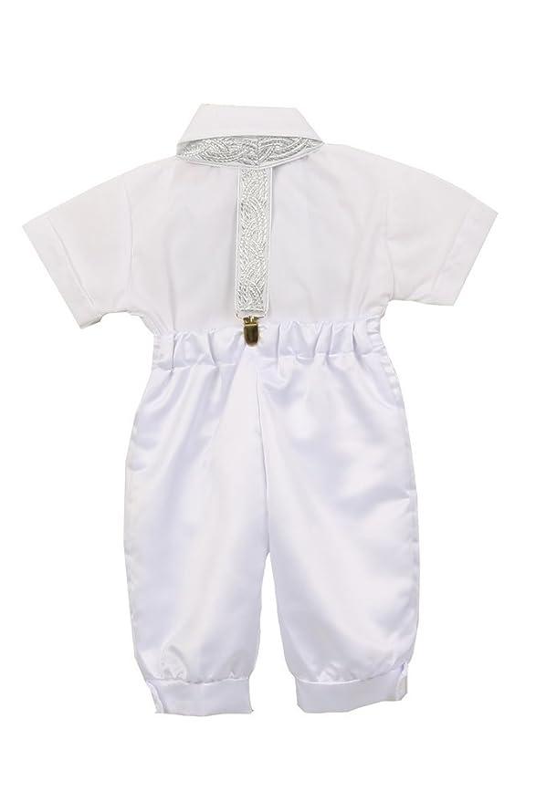 37fa9c379 Amazon.com  Rain Kids Baby Boys White Satin Shorts Cotton Shirt ...