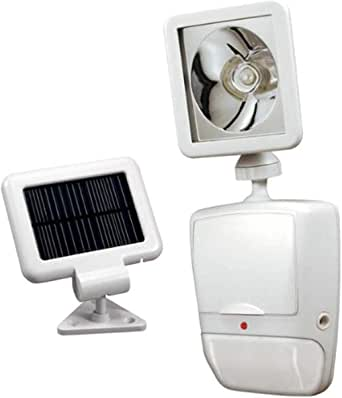Heath/Zenith SL-7210-WH 180-Degree Solar-Powered Motion-Security Light with LED Bulb, White