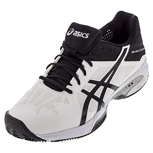 ASICS Men's Gel-Solution Speed 3 Clay Tennis Shoe White/Black/Silver 8 M US