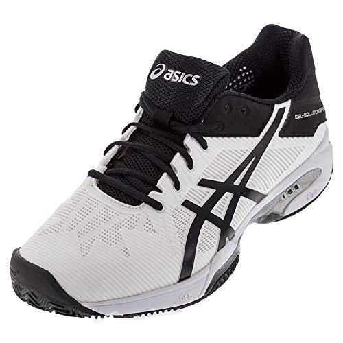 ASICS Men's Gel-Solution Speed 3 Clay Tennis Shoe White/Black/Silver 8 M US