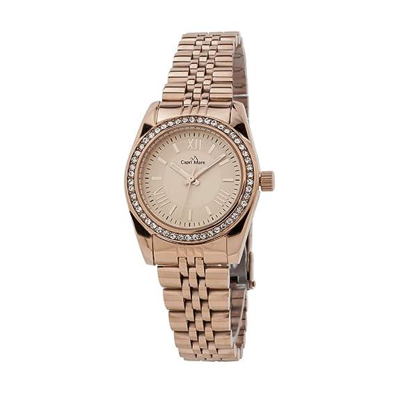 Capri playa Reloj de mujer modelo Caprile sumergible de acero y abrazadera de diamantes Rose: Amazon.es: Relojes