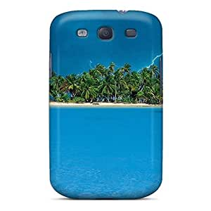 For Jeffrehing Galaxy Protective Case, High Quality For Galaxy S3 Lightning Over A Tropical Isl Skin Case Cover
