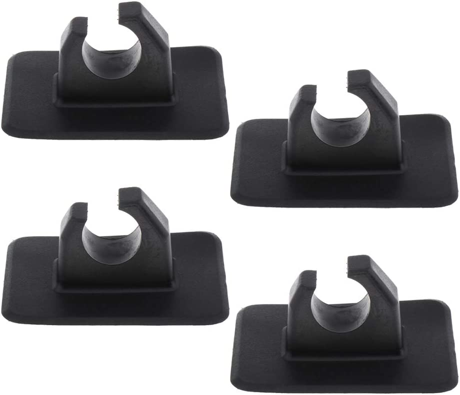 koolsoo 4pcs Premium Paddle Holder Patch Inflatable Boat Oars Mount Accessory Black