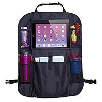 AmbyLife Protection haute qualité de dossier pour siège arrière de voiture Housse de protection imperméable avec support pour iPad/tablette, convient pour toutes les voitures.