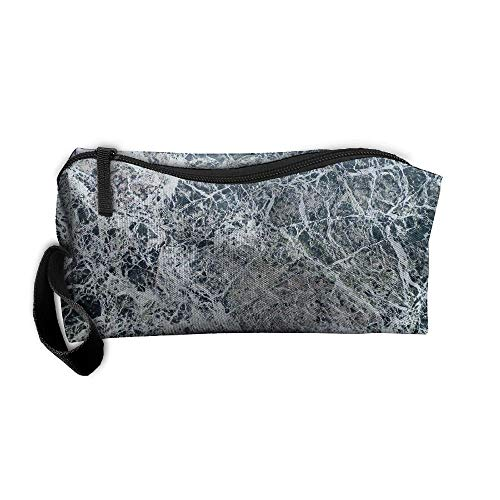 Black White Marble Pattern Makeup Bag Calico Girl Women Travel Portable Cosmetic Bag Sewing Kit Stationery Bags Feature Storage Pouch Bag Multi-Function Bag ()