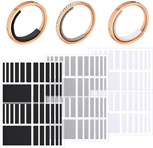 114 Pieces/ 6 Sheets Invisible Ring Size Adjuster Loose Ring Sizer Jewelry Ring Guard Ring Smaller Spacer Loose Ring Tightener Ring Fixed Piece for Preventing Ring from Loosening and Slipping Off