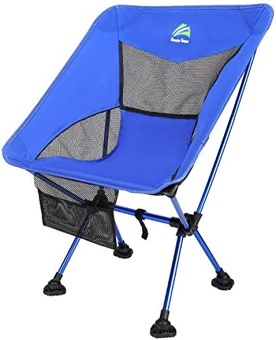 BERSERKER OUTDOOR Lightweight Folding Camping Chair Portable Backpack Chair with All-Terrain Large Feet Heavy Duty 300lbs Capacity Camp Chair for Outdoor, Beach, Picnic, Travel,Hiking