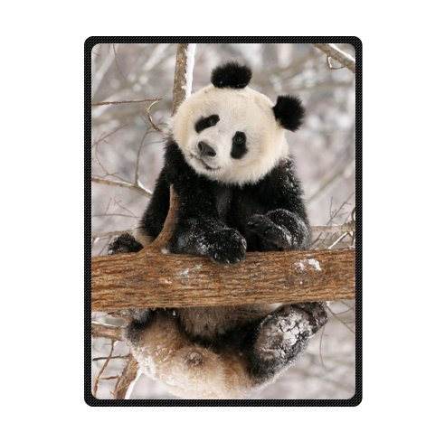 - Custom Special Design giant panda Fleece Blankets Throws 58 x 80 inches(Large)