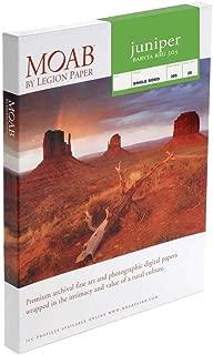 "product image for Moab Juniper Baryta Rag Glossy Fine Art Inkjet Print Paper, 5x7"", 305gsm, 25 Sheets"