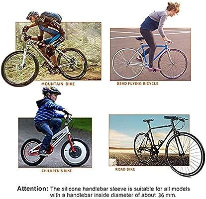 1 par de Manillar Grip Silione manijas Antideslizantes Ultralight Bike Grips de Bloqueo con Tapones de Extremo para Ciclismo al Aire Libre(Pink): Amazon.es: Deportes y aire libre