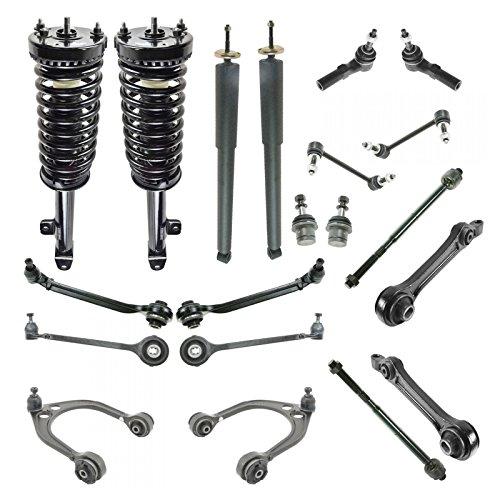 Chrysler Srt (Front & Rear Suspension Kit 18 Piece Strut Shock Control Arm Tie Rod for Dodge)