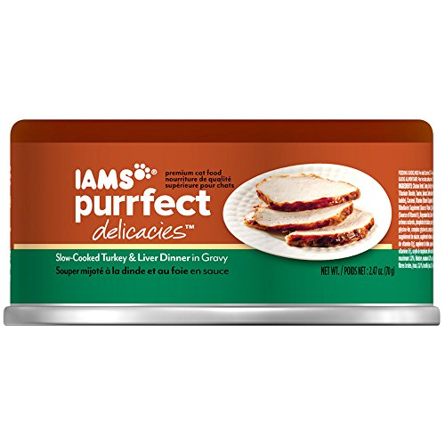 IAMS PURRFECT DELICACIES Slow-Cooked Turkey and Liver in Gra
