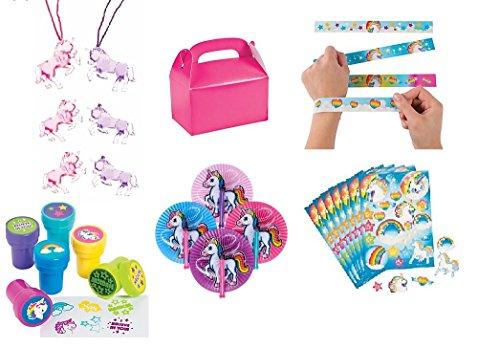 Unicorn Party Favor Bundle Set For 12