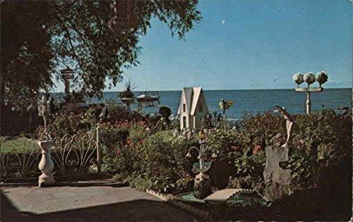 Lake Front Gardens at Crescent Beach Hotel Rochester, New York Original Vintage Postcard