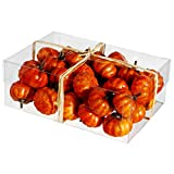 2.5''Hx5''Wx7''L Artificial Boxed Assorted Pumpkins -Orange (pack of 12)