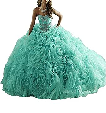 HeleneBridal 2017 Women's Sweetheart Beading Sweet 16 Quinceanera Dresses Prom Formal Dresses Wt089