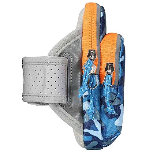 Kimlee Sport Armtasche, Multifunktionale Tasche Sport-Armband Hülle Laufen Handytasche Rennen Sportarmband Outdoor iPhone 7/6/6s/5/SE