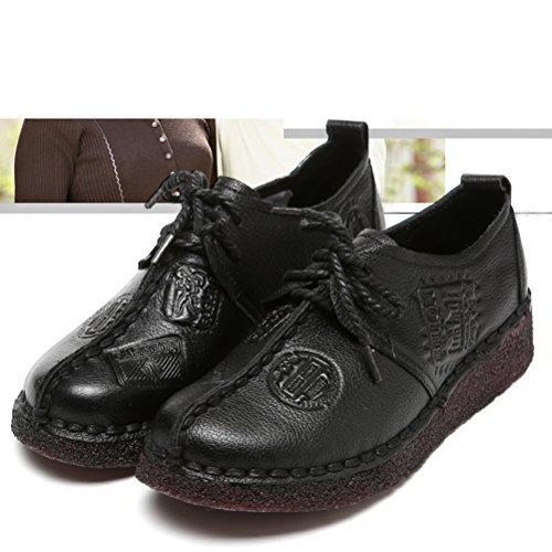 Vogstyle Damen Neue Flache Schuhe Laura Vita Casual Slipper Art 6 Schwarz