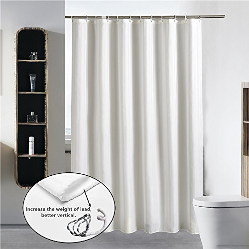 Cryseam Shower Curtain Hotel Quality Bathroom 72''X72'' Inch Mildew-Free Water-Repellent Polyester Fabric