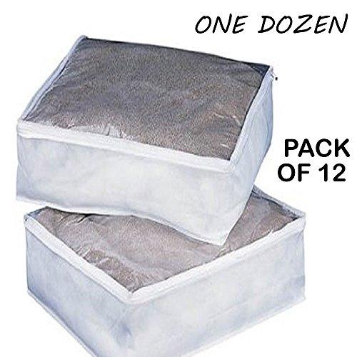 1 Dozen Clear King Size Comforter Storage Bags 12 Bag Per