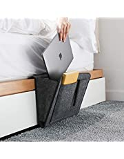 Dewsshine Bedside Caddy Hanging Storage Organized, Bed Sofa Storage Organizer Nightstand with Pocket for TV Remote Control, Phones,Magazines, Tablets, Accessories