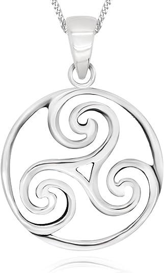 Ladies 12in 925 Sterling Silver Irish Celtic Triskele Triple Spiral /& Trinity Knot Dangle Earrings