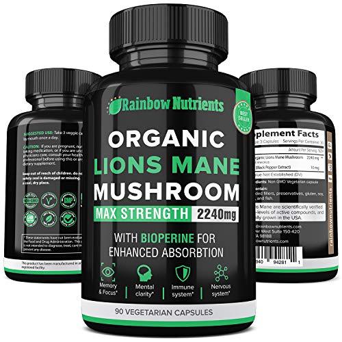 Premium Lions Mane Mushroom Capsules
