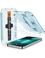 Spigen Glas.tR EZ Fit Screenprotector compatibel met iPhone 13, iPhone 13 Pro, 2 Stuks, met Sjabloon voor Installatie, Kristalhelder, Case friendly, 9H Gehard Glas