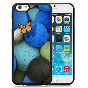 NEW Unique Custom Designed For Case Samsung Note 4 Cover Inch PC Phone Case With Lonely Butterfly Blue Rocks_Black Phone Case