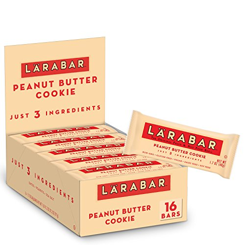 Larabar Gluten Free Bar, Peanut Butter Cookie, 1.7 oz Bars (16 Count), Whole Food Gluten Free Bars, Dairy Free Snacks ()