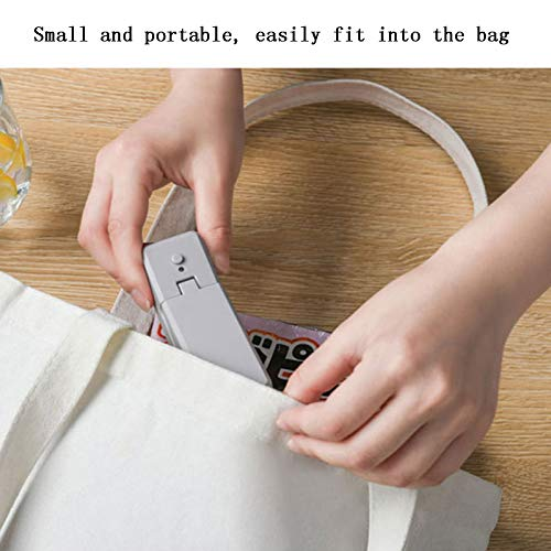 Usb bag Sealer, Portable Handheld Sealer With switch and rechargeable function,Suitable for Chip Bags Plastic Food Storage Bags Snack & Cereal Bags-black