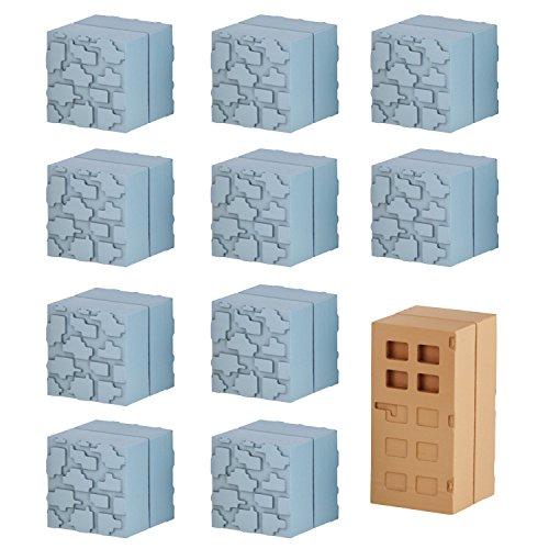 Mine-Keshi Minecraft Cobblestone & Wooden Door Block - Mine Glasses Craft