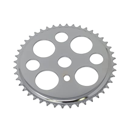 Bike Steel Sprocket Cw358 44t 1//2 X 1//8 Chrome//Black