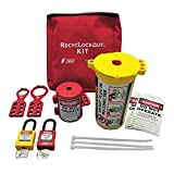 ZING 7121 RecycLockout Lockout Tagout Kit, 11 Component, Plug Lockout
