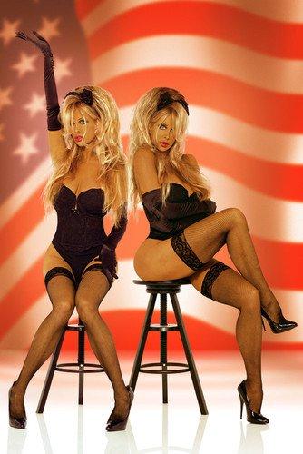 Barbi Twins American Flag U.S. Sexy 24x36 Poster