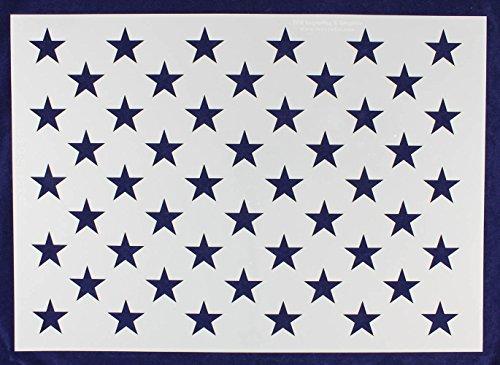 """50 Star Field Stencil 14 Mil -G-Spec 24"""" - Painting /Crafts/"""