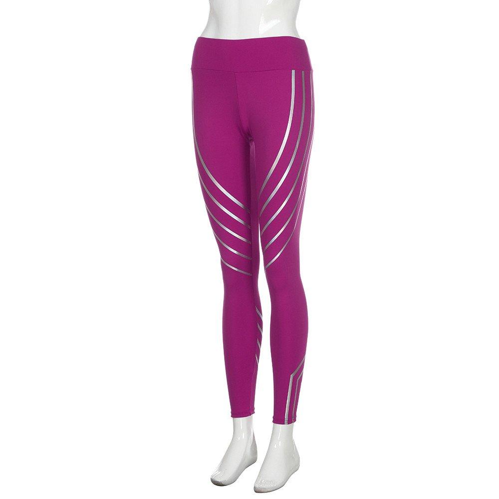 Jaysis Leggins Sportivi Donna Pantaloni Yoga Fitness Yoga Pants,Donne al Neon Rainbow Leggings Fitness Sport Running Palestra Yoga Pantaloni Sportivi