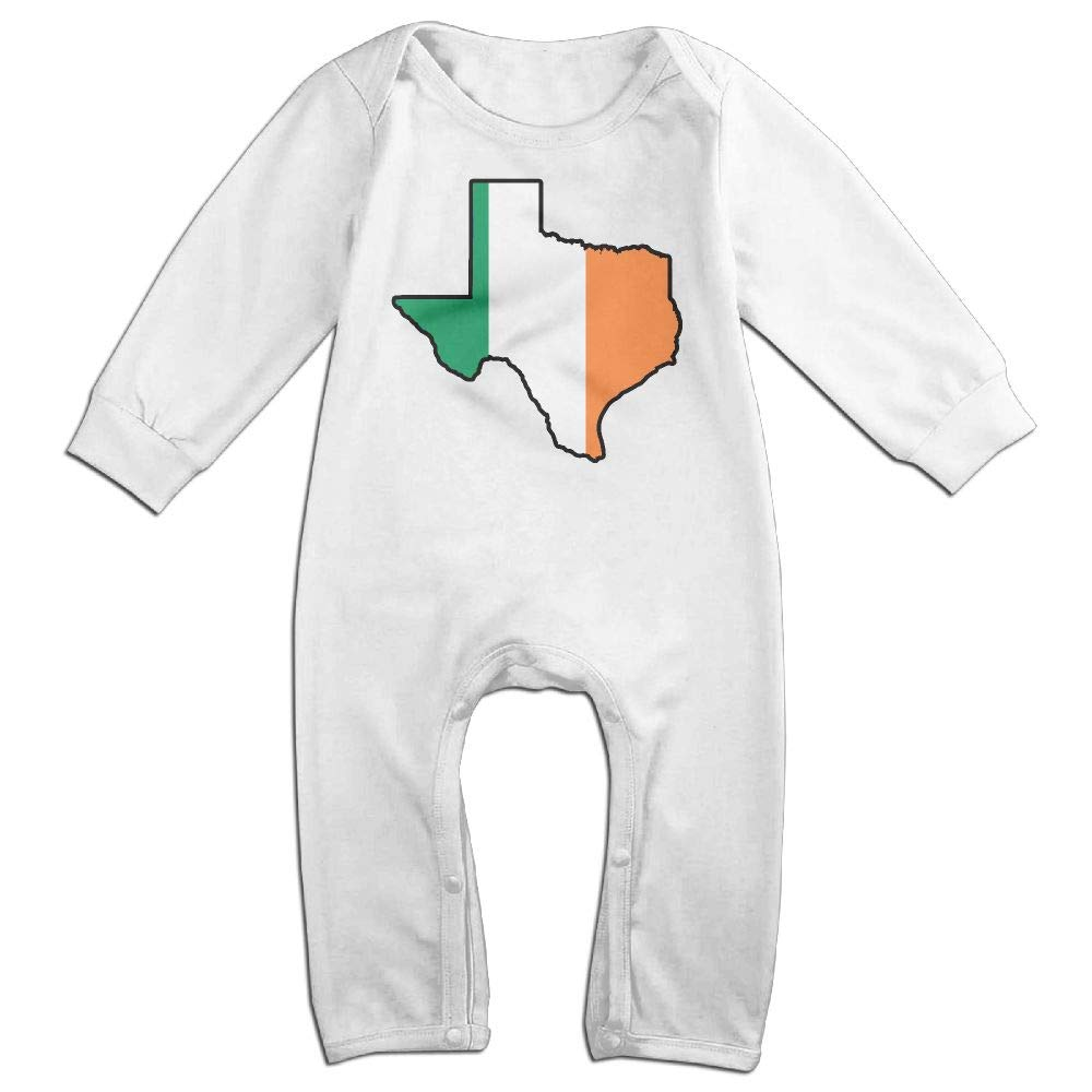 Baby Boy Girl Jumpsuit Irish Flag Texas Map Toddler Jumpsuit