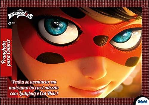 Miraculous Ladybug Prancheta Para Colorir Livros Na Amazon