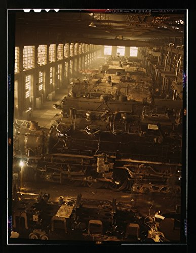 ed Photo of Chicago and Northwestern Railroad Locomotive Shops, Chicago, Ill. 1942 Delano C Jack 64a ()