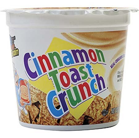General Mills Cinnamon Toast Crunch Cereal in a Cup [Pack of 4]