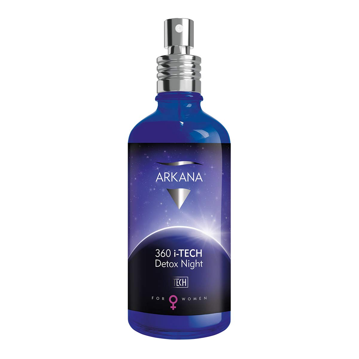 Detoxifying Skincare, Anti-Pollution Restorative Night Face Mist Elixir, 360 i-TECH Detox Night, made in EU by Arkana, Med Spa Brand