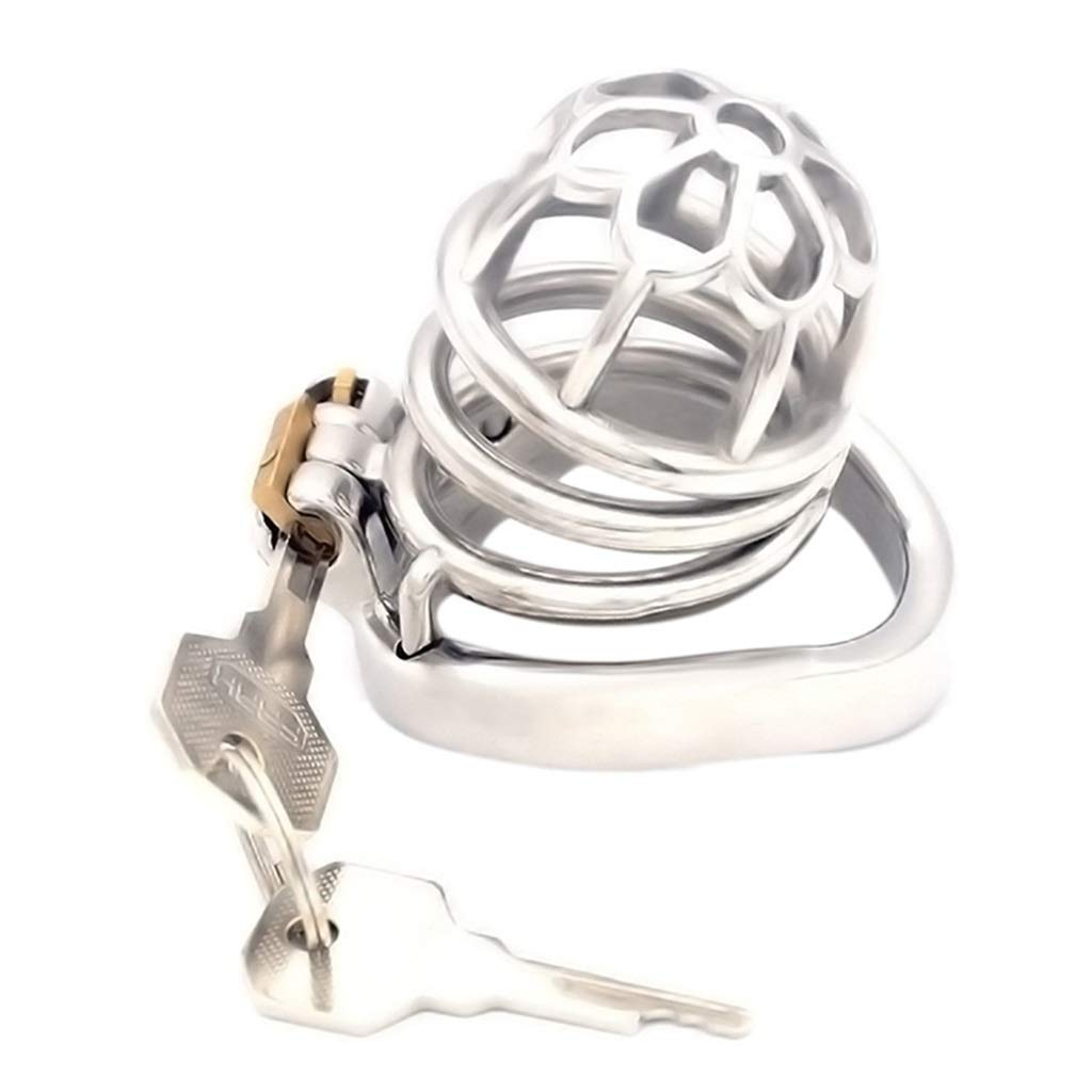 LYFNL68 Birdcage Lesbian Chastity Dïldô Locking Shirt Underwear Anti-Off Strap Metal Cage Shorts Xage Master Exercise Ring Plug Device Stainless (Color : 45mm)