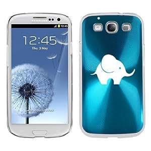 Light Blue Samsung Galaxy S III S3 Aluminum Plated Hard Back Case Cover K1269 Baby Elephant