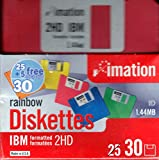 Imation™ 3 1/2'' Bulk Diskettes, IBM(R) Format, DS/HD, Rainbow, Box Of 30
