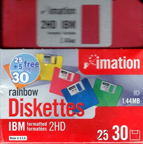 "Imation™ 3 1/2"" Bulk Diskettes, IBM(R) Format, DS/HD, Rainbow, Box Of 30"