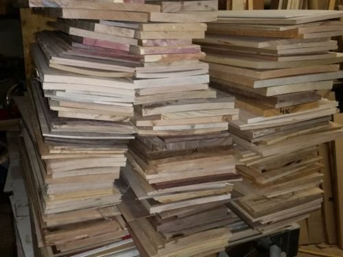 Box Of Thin Unfinished Craft Wood Scrap Lumber Buy