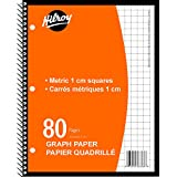 Hilroy 66368 1-Subject Coil Metric Graph Paper Notebook, 10-1/2x8-Inch, 80-Pages, Orange Cover