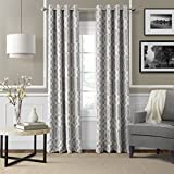 Elrene Home Fashions 026865853728 Blackout Room Darkening Grommet Window Curtain Drape Panel, 52″ x 95″, Gray For Sale